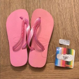 Havaianas, 35-36, pink, wide strap, new